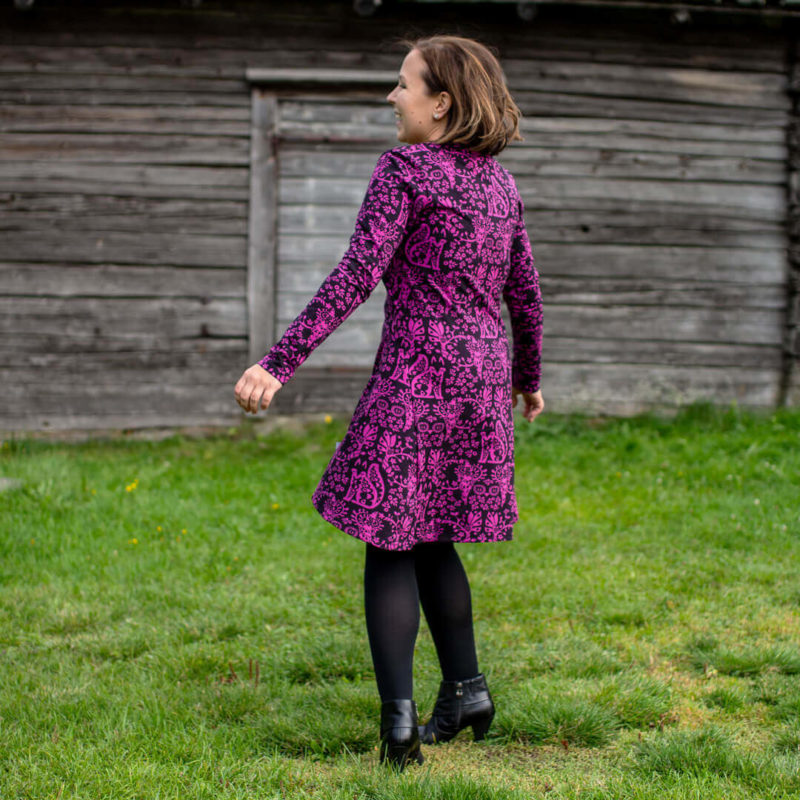 PaaPii Design Heija tunika Mielikki violetti takaa