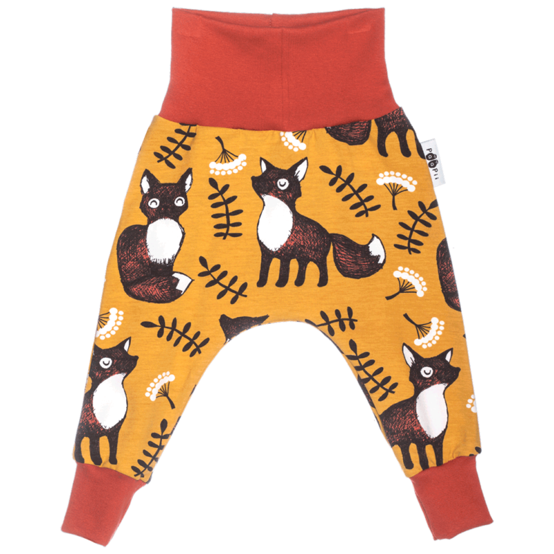 PaaPii Design Leimu vauvan housut Nuutti okra ruoste