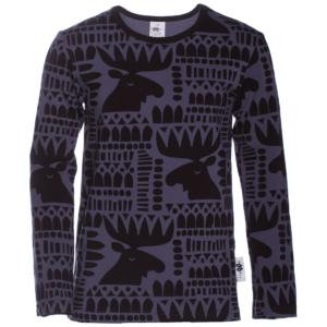 PaaPii Design Nooa paita Hirvi mustikka-musta
