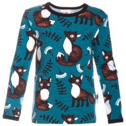 PaaPii Design Uljas lasten paita Nuutti petrooli-ruoste