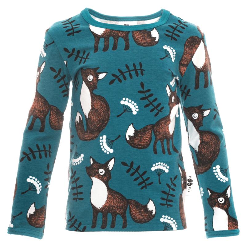 PaaPii Design Uljas paita Nuutti petrooli-ruoste