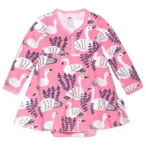 PaaPii Design mekkobody Joutsen vaaleanpunainen-mustikka