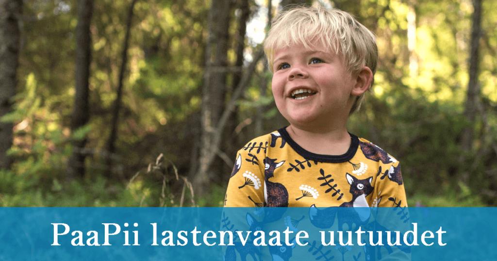 PaaPii Designin syksyn 2019 lastenvaateuutuudet on nyt julkaistu