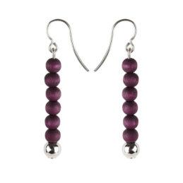 Aarikka Hekkä korvakorut tumma violetti