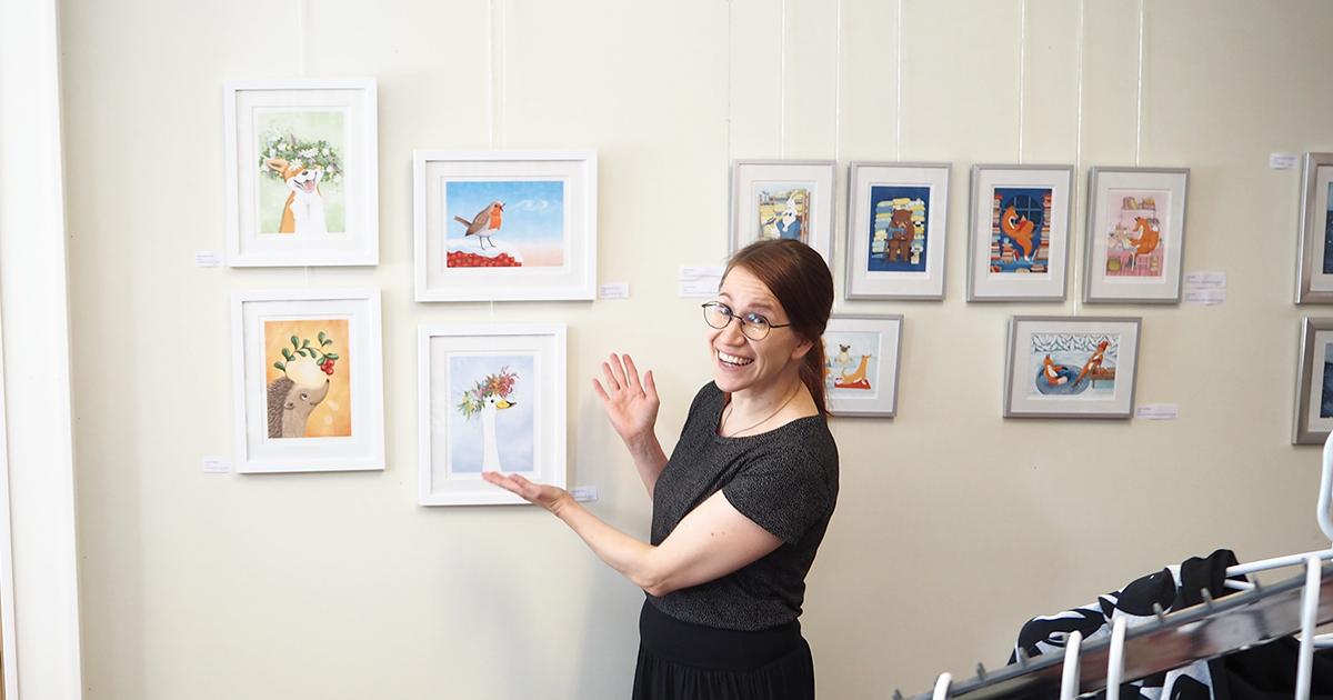 Elina Jasun näyttely Maammekaupan galleriassa