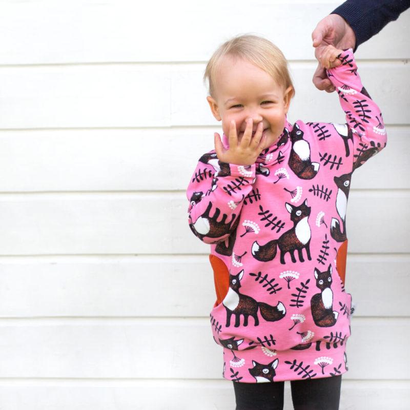PaaPii Design Helmiina collegetunika Nuutti vaaleanpunainen-ruoste