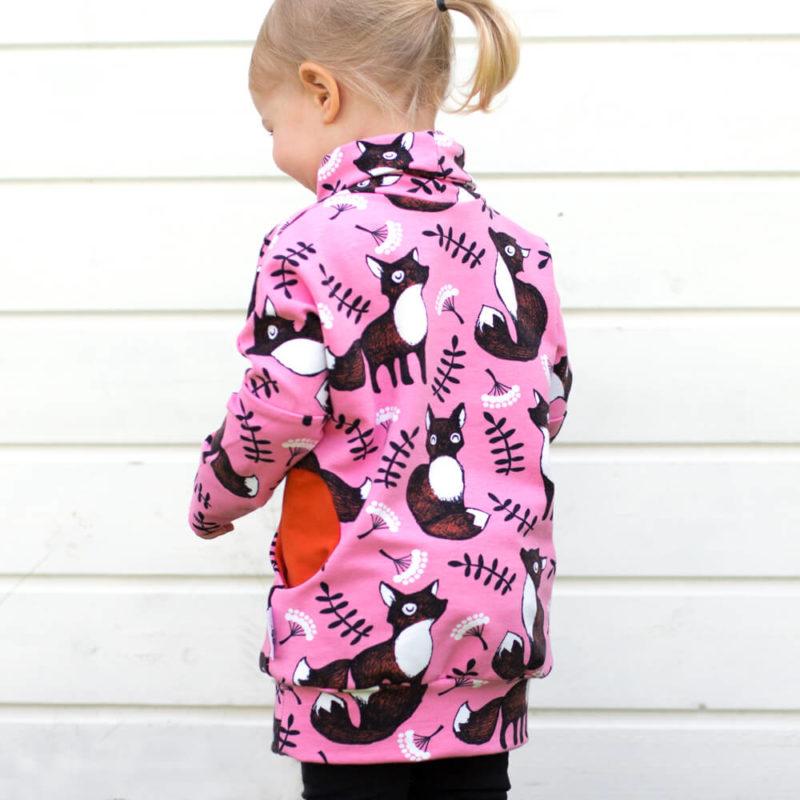 PaaPii Design Helmiina collegetunika Nuutti vaaleanpunainen-ruoste takaa