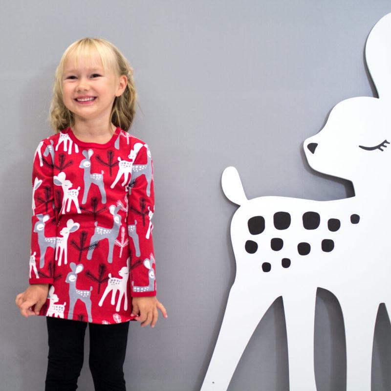 PaaPii Design Vieno tunika Bambi punainen-harmaa naurava
