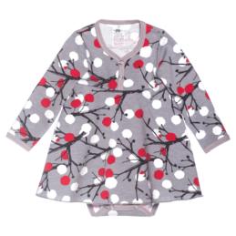 PaaPii Design mekkobody Marjapuu harmaa-punainen