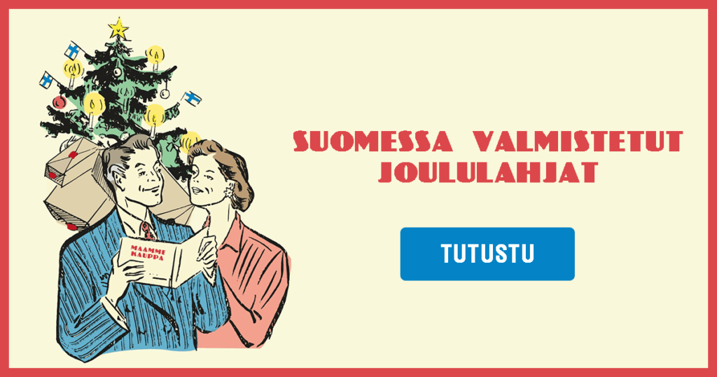 Suomessa valmistetut joululahjat Maammekaupasta