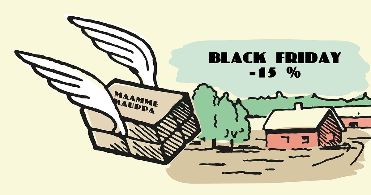 Black friday tarjouspäivä Maammekaupassa 2019