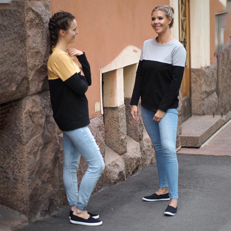 Kanto Design Sopiva paita harmaa ja keltainen