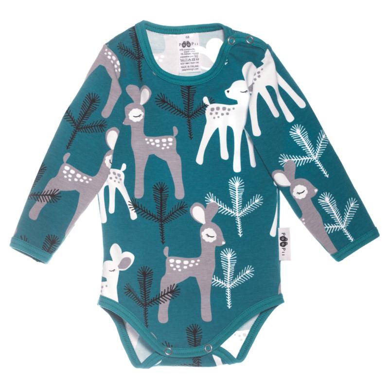PaaPii Design body Bambi petrooli-harmaa