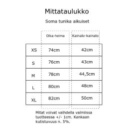 Kanto Design Soma tunika kokotaulukko