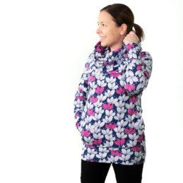 PaaPii Design Halla huppari Kimppu mustikka-pinkki edestä