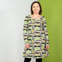 PaaPii Design Sumu tunika Vanhakaupunki omena-keltainen edestä