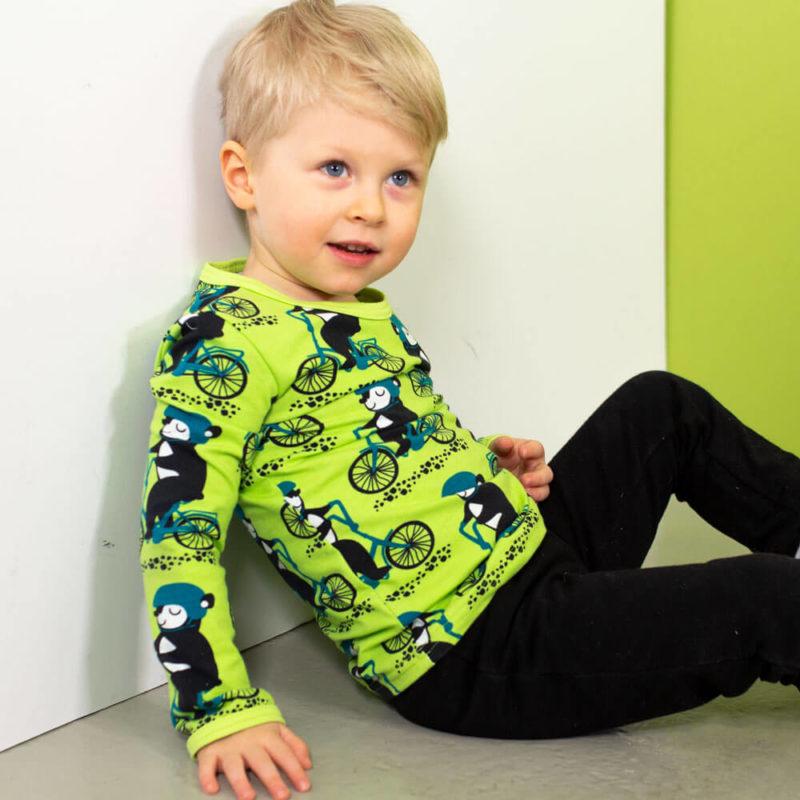 PaaPii Design Uljas paita Into pyöräilee omena-petrooli sivusta