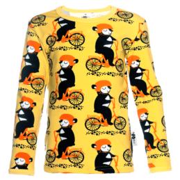 PaaPii Design Uljas paita Into pyöräilee keltainen-oranssi