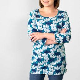 PaaPii Design Usva paita Kimppu petrooli-mustikka lähikuva