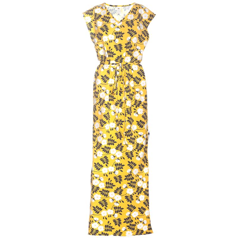 PaaPii Design Iiris mekko Juhannusruusu keltainen-tummanharmaa