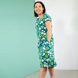 PaaPii Design Sointu mekko Juhannusruusu petrooli-omena