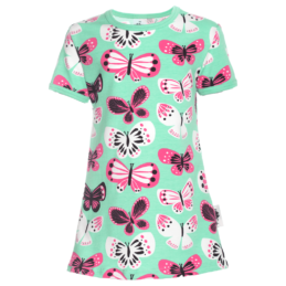 PaaPii Design Viola tunika Perhoset minttu-pinkki