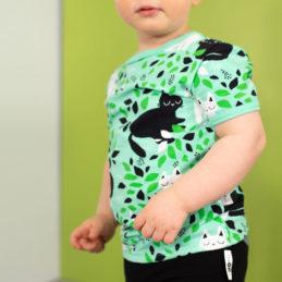 PaaPii Design Visa T-paita Piilo minttu-vihreä lähi