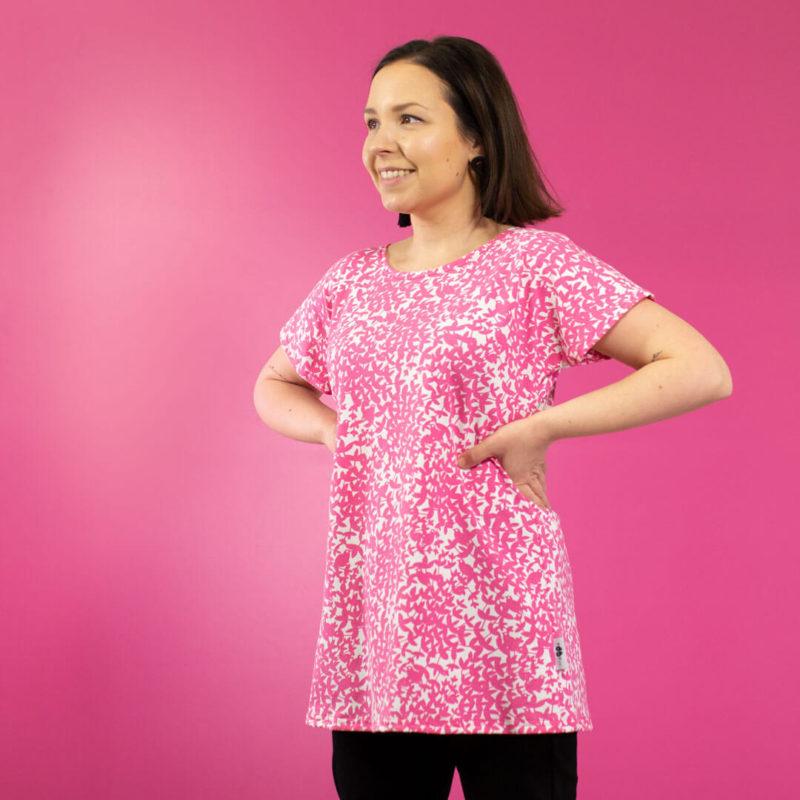 PaaPii Design Vuono T-paita Satakieli pinkki sivu
