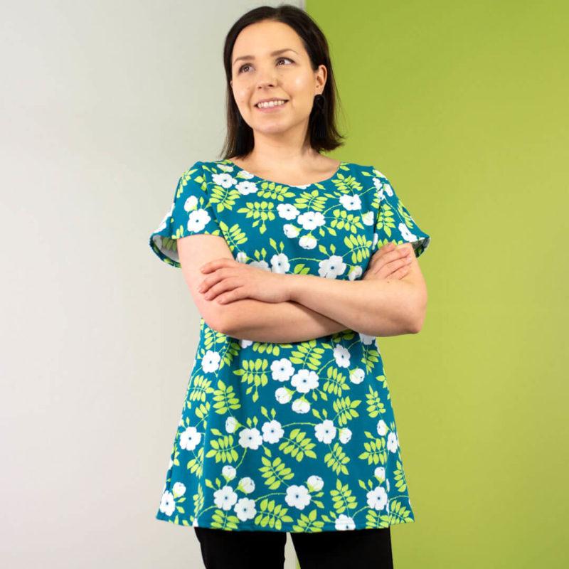 PaaPii Design Vuono paita Juhannusruusu petrooli-omena etu