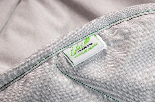 Uni Showroom Greenline peitto 150x200 cm keskilämmin yksityiskohta ekologinen harmaa