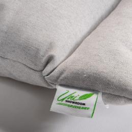 Uni Showroom Greenline tyyny 50x60 cm matala nurkka lappu ekologinen harmaa