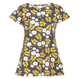 PaaPii Design Vuono T-paita tummanharmaa-keltainen