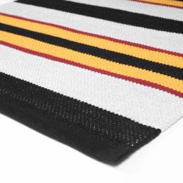 Retromatto raitamatto Disa musta-valko-puna-keltainen kulma