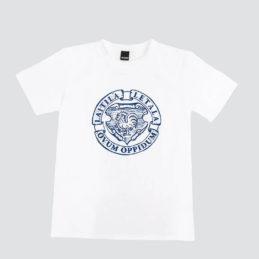Laitila Ovum Oppidum T-paita harmaalla tasolla