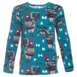 PaaPii Design Uljas paita Rooster petrooli-punainen
