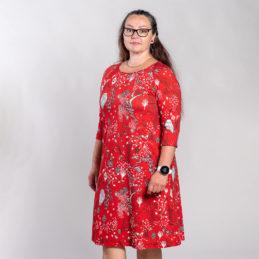 Ehta Marjukka mekko Owls punainen 4