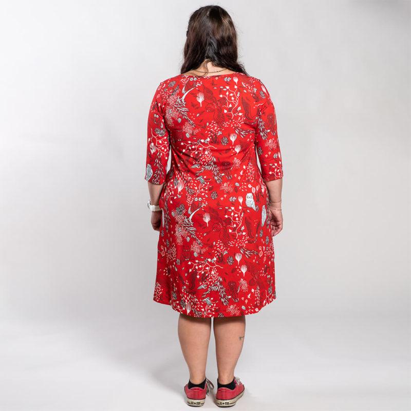 Ehta Marjukka mekko Owls punainen 7