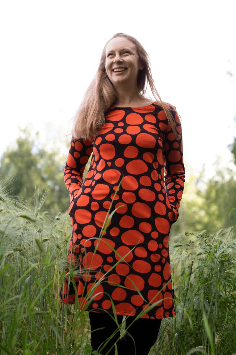 PaaPii Design Sini mekko Louhikko ruoste pellossa 4
