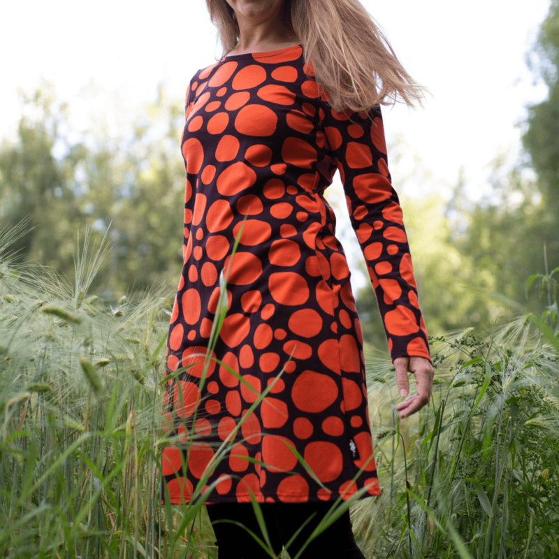 PaaPii Design Sini mekko Louhikko ruoste pellossa 6