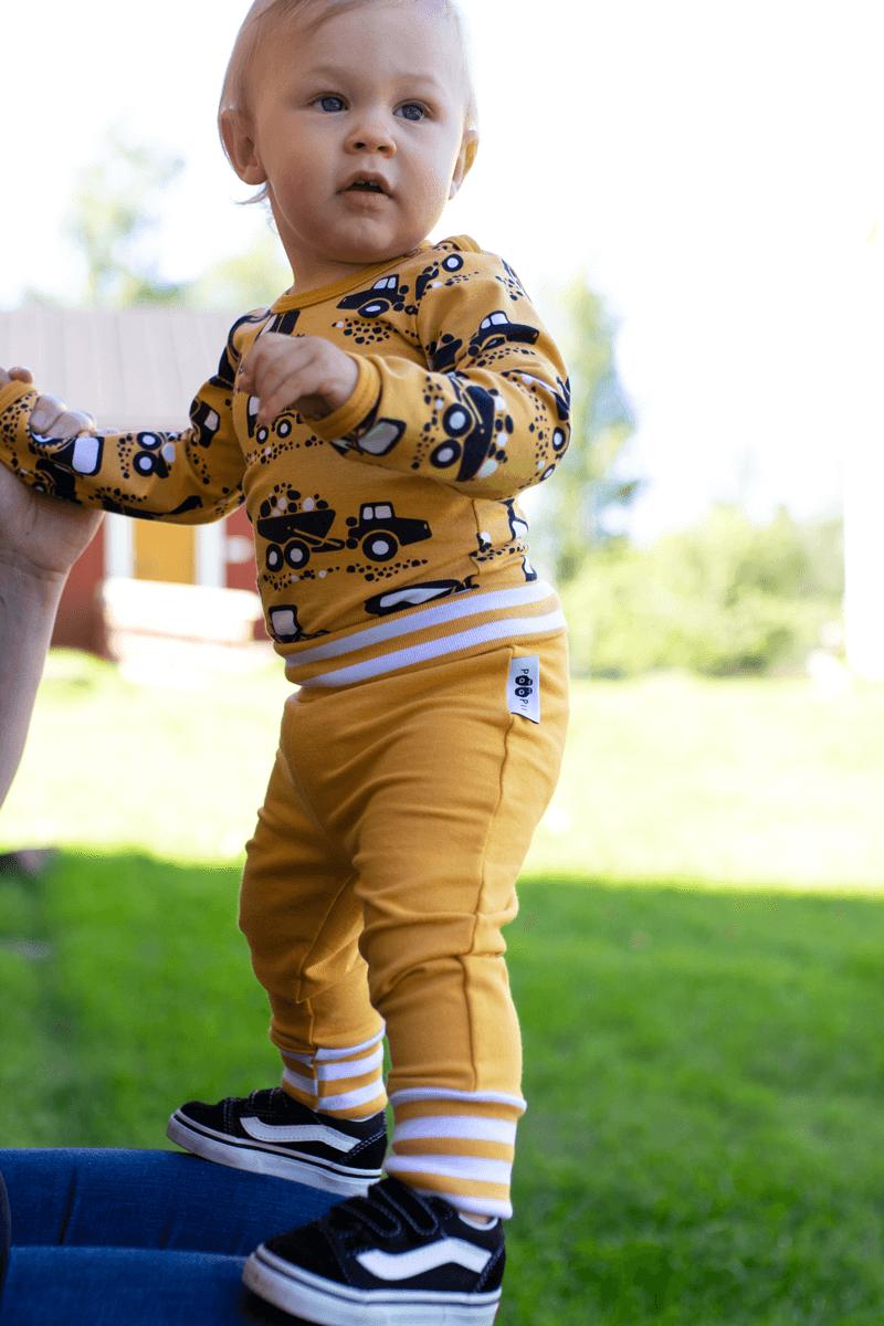 PaaPii Design body Tyokoneet okra ja baby Sisu housut