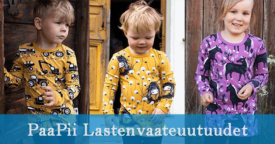 PaaPii Design lastenvaateuutuudet syksy 2020 etusivu