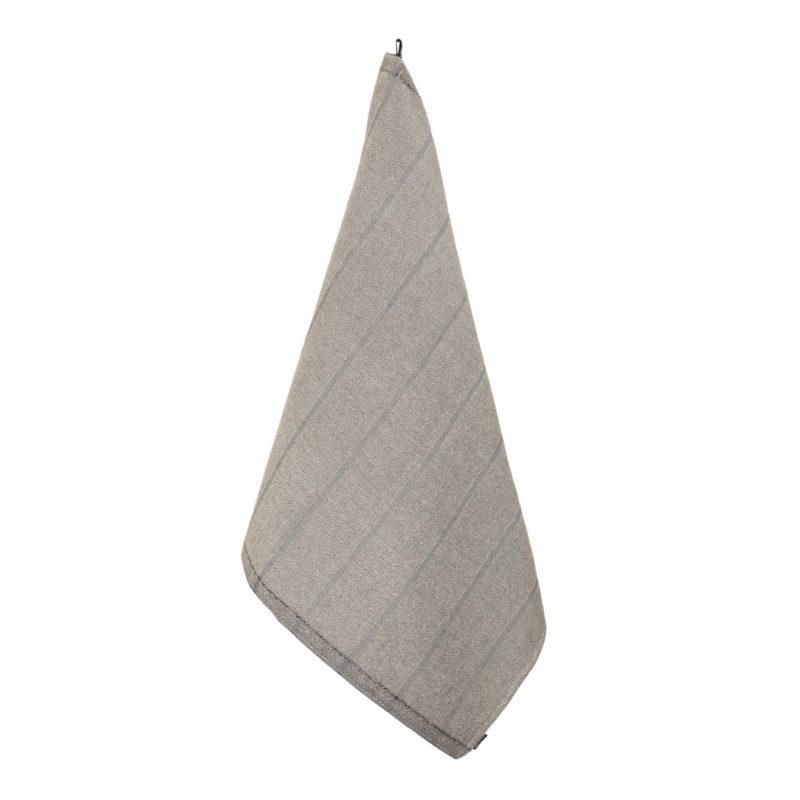 Jokipiin Pellava vappu saunassa laituri kylpypyyhe 75x150 luonnonväri-musta