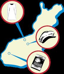 Maammekauppa Suomessa valmistettua tavaraa kartta valmistajista