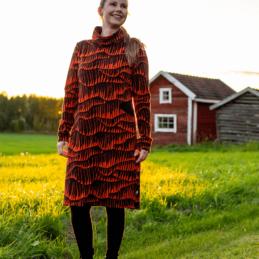 PaaPii Design Routa mekko taivaantulet ruoste 4