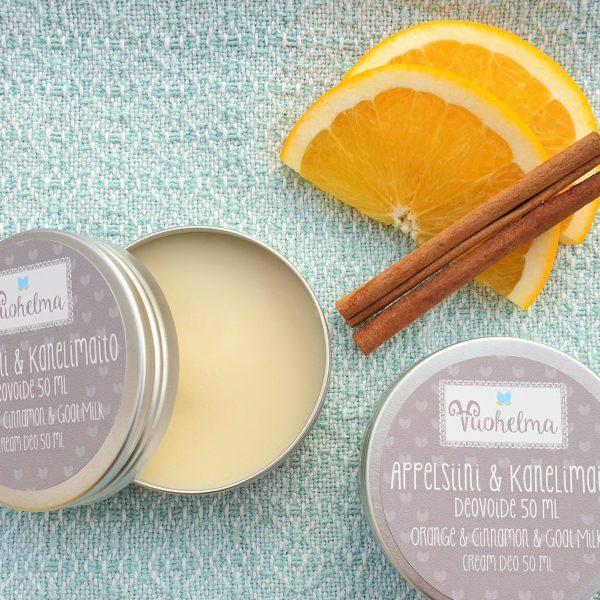 Vuohelma Deovoide Appelsiini & Kanelimaito 50 ml