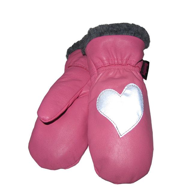 Heijastavat Lasten Nahkarukkaset Pinkki Sydän Karvareunus