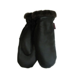 Naisten Nahkarukkaset, lammasturkis musta