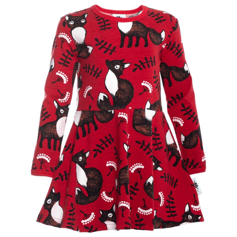 PaaPii Design Sinna kellohelmamekko Nuutti punainen-ruoste