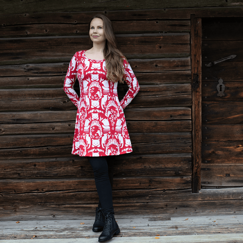 PaaPii Design Sumu tunika Pohjolan portti punainen