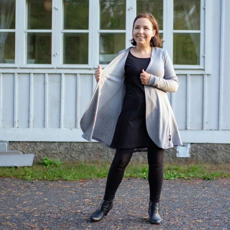 PaaPii Design Syli Merinovillaneuletakki harmaa 6